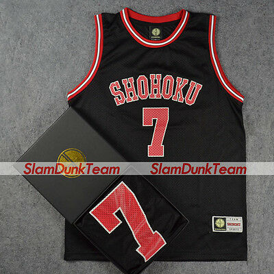 SLAM DUNK Cosplay Costume Shohoku School Basketball #7 Miyagi Replica Jersey BLK