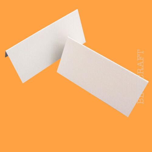 500 x lieu nom cartes lin blanc en relief-mariages /& parties