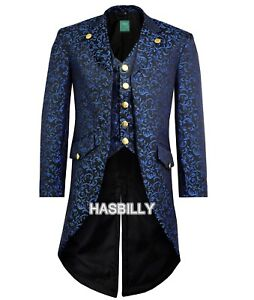 Multi Mens Jacket Victorian Fancy Steampunk Colour Tailcoat Gothic qHx6dIw