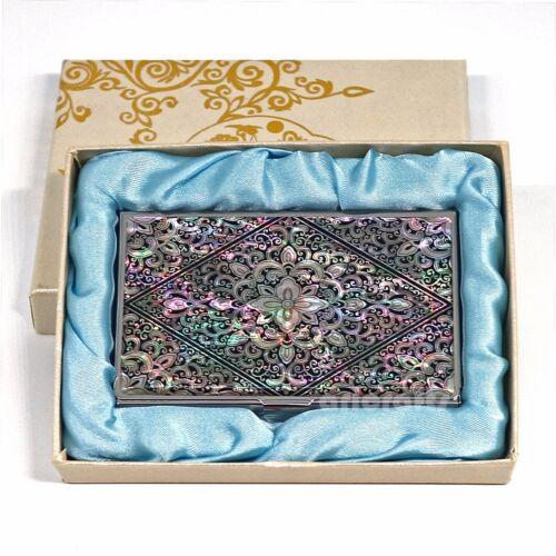 Business Credit Card Case Nom ID CASH MONEY Holder Portefeuille MOP Arabesque Design