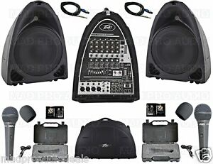 PA-System-portable-Peavey-PVi-Compact-sound-system-small-band-karaoke-system