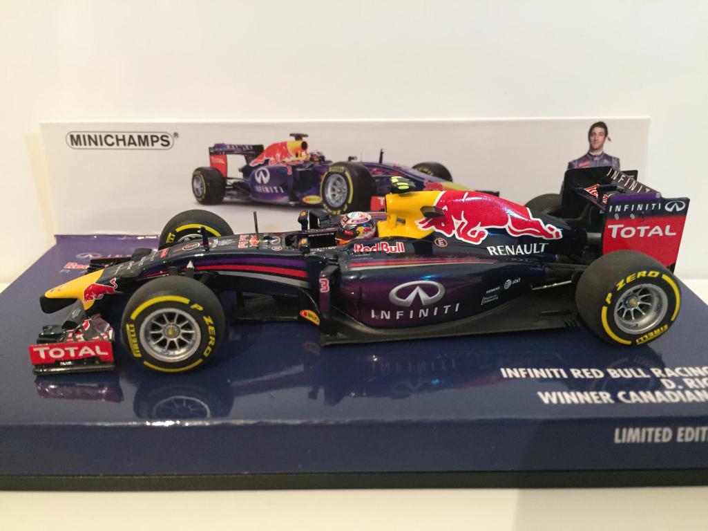 Minichamps 410140103 INFINITI rosso BULL RACING RB10 D Ricciardo CANADIAN GP