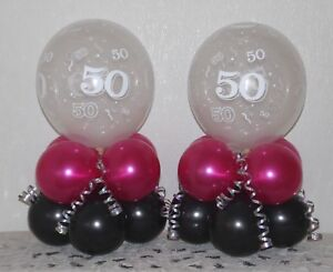 Image Is Loading 50th Birthday 2 6 12 Pack Table Balloon