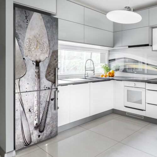 Details about  /Magnet Sticker Refrigerator removable Decal Vintage Metal cutlery