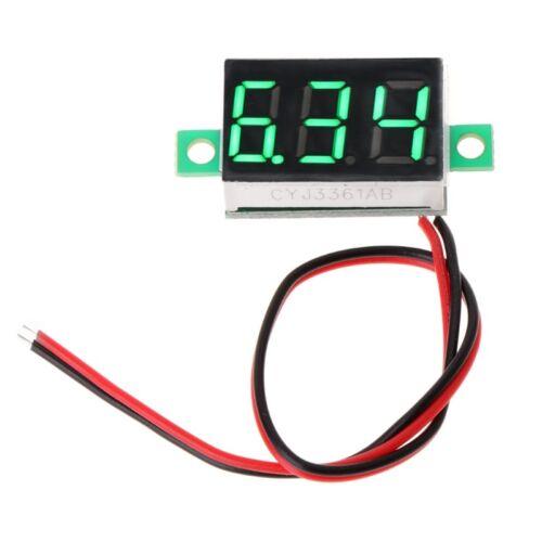 """Digital Voltmeter 0.36/"""" 2-wires DC 2.50 to 32.0V LED Volt Meter Voltage Gauge"""