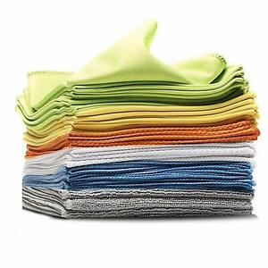 Towelogy-Microfibre-Cleaning-Cloths-Dusters-Car-Bathroom-Polish-Towels-30x30cm