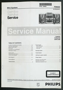 Philips-fw630-original-mini-HiFi-System-Service-Manual-diagram-Parts-List