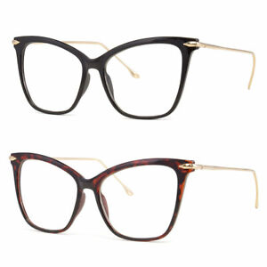 New-Clear-Lens-Cat-Eye-Glasses-Retro-60s-Vintage-Style-Women-039-s-Fashion-z