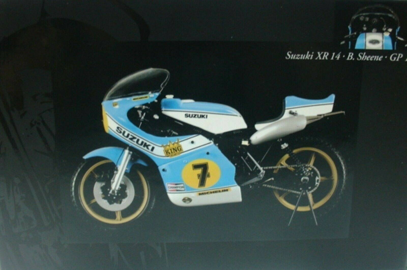 WOW estremamente raro SUZUKI XR14 500 #7 SHEENE WINNER Svezia 1975 1:12 Minichamps