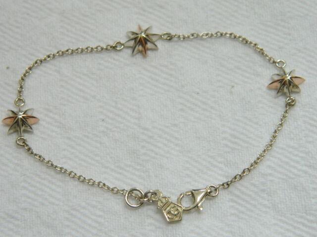 Clogau Silver & 9ct Welsh Gold Seren Bracelet RRP £189.00