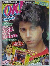 Revue OK Magazine Mars 1984 Claude François Jean-Luc Lahaye Julie Piétri