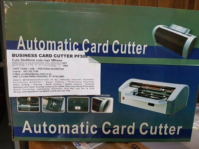 Electric Business card cutter New A4 Quality machine cuts up to 300gms HEAVY duty  PF50