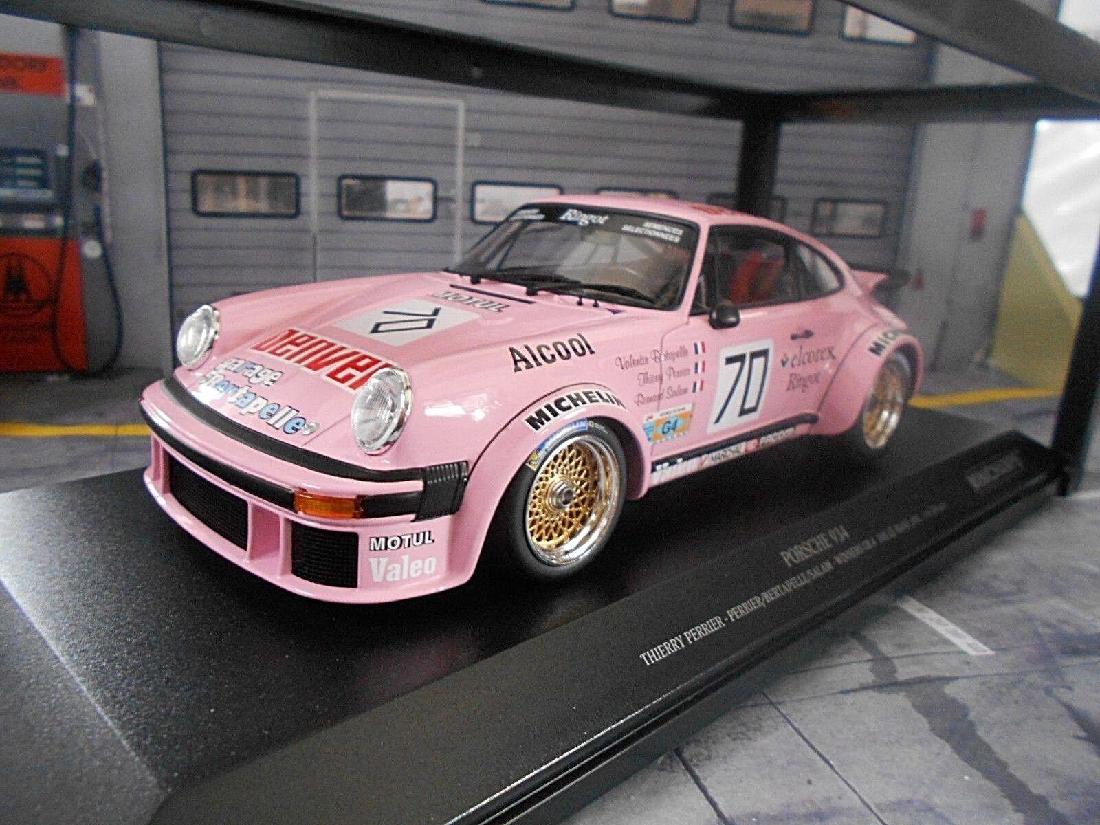 Porsche 911 934 Le Mans 1981  70 Perrier Salam taille 4 Denver MINICHAMPS New 1 18