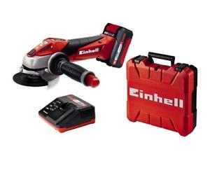 Smerigliatrice-Angolare-Einhell-TE-AG-18-115-Li-Kit-valigetta-con-batteria-18V
