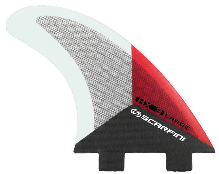 Surfboard Fins - Scarfini Fins - HX3 (FCS) Red - Medium Large - Thruster - New
