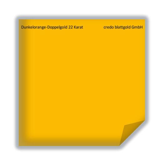 ARANCIONE SCURO-ORO DOPPIO FOGLIO ORO 22 carati transfer 25 fogli 8 x 8 cm dorare