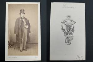 Grob-Paris-Leonce-acteur-Vintage-carte-de-visite-CDV-Edouard-Theodore-Nic