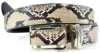 Genuine Python Buckle Elegant White handmade Genuine Python Snake Skin