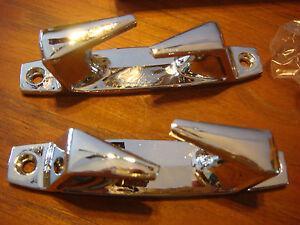 Chrome-Skene-rope-Chocks-4-1-2-034-Chock-Pair-polished-NOS-New