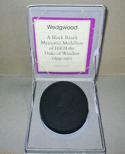 Wedgwood Basalt Black Duke of Windsor Medallion
