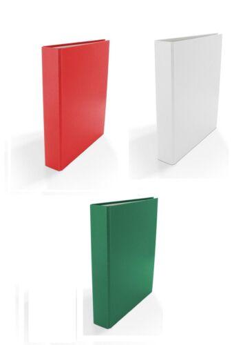 Farbe DIN A5 3x Ringbuch je 1x weiß rot und grün 2-Ring Ordner
