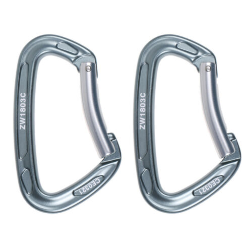 Ultralight 24KN Alloy Bent Gate Carabiner for Rock Climbing Quickdraws By CE