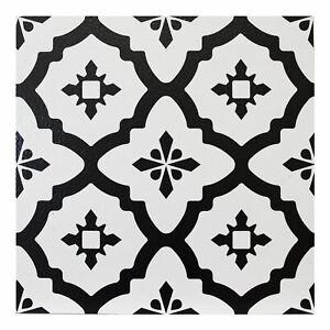 Floorpops Comet Pack Of 10 Peel Stick Vinyl Floor Tiles Black White Pattern Ebay