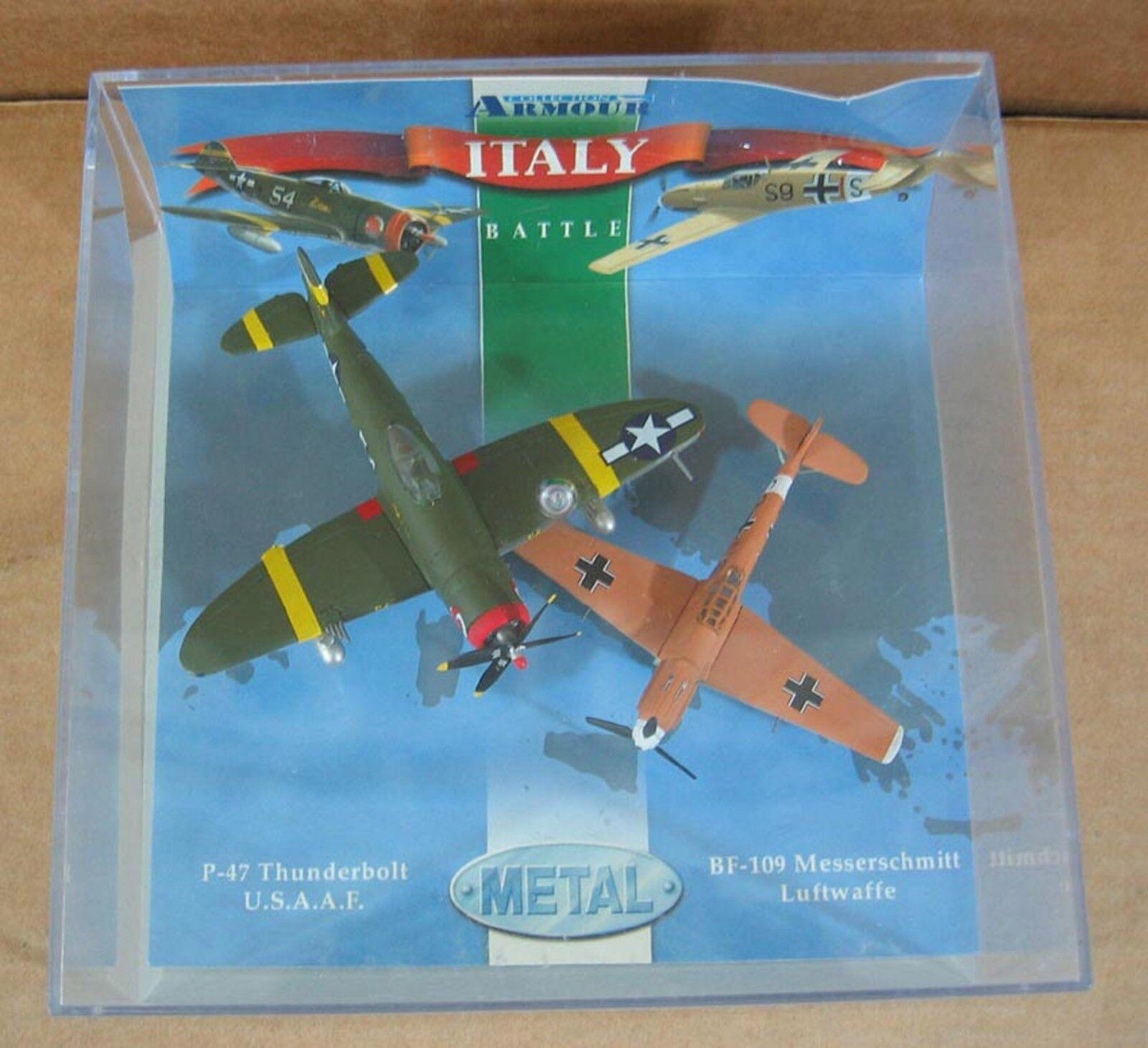 Italien kampf bf-109 messerschmitt luftwaffe & p-47 blitz u.s.a.a.f 1  100