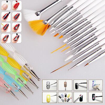 HOT! 20pcs Nail Art Design Set Dotting Painting Drawing Polish Brush Pen Tools