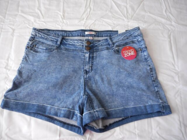 6b8ecf85883 Women s Bongo Juniors Plus High Waist Shorts Blue Indigo Size 22W New W Tags