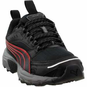 Puma-Axis-Trail-Lace-Up-Sneakers-Casual-Black-Mens