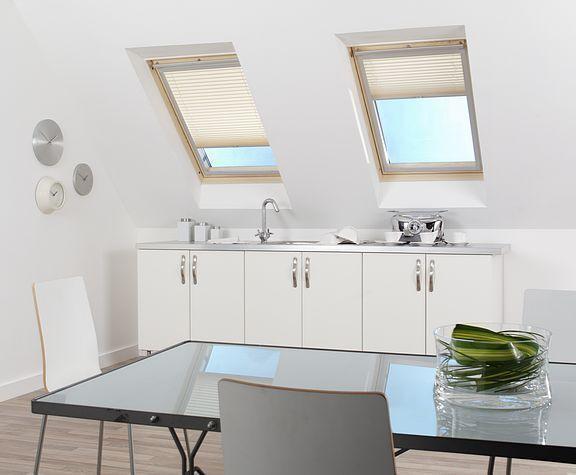 PLEATED LOFT SKYLIGHT WINDOW BLINDS (SUITABLE FOR VELUX & FAKRO STYLE WINDOWS)