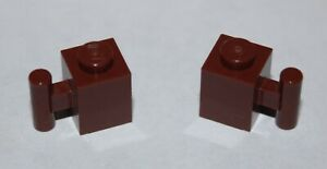 2-x-Lego-RedBrown-Brick-with-Handle-ref-2921-sets-79003-6243-10194-4842-10144