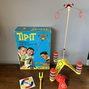 Vintage-Ideal-Tip-It-Game-Boxed-1965-The-Wackiest-Balancing-Game-Ever-Complete