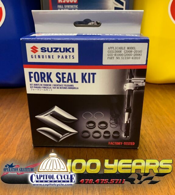 Suzuki Genuine OEM Factory Fork Seal Kit Seals Rebuild 2005 - 2008 GSXR 1000