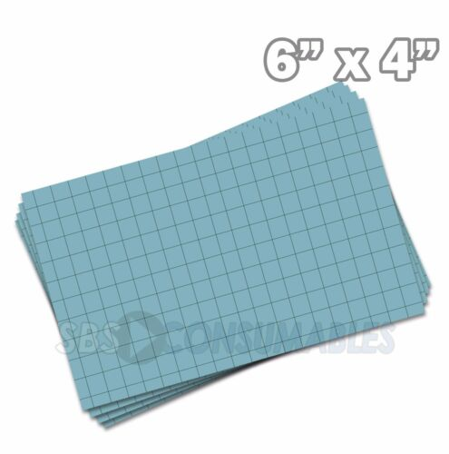 """100x Record Cards Blue Squared Index//Flash//Maths Revision 150x100mm//6x4/"""" 13212E"""