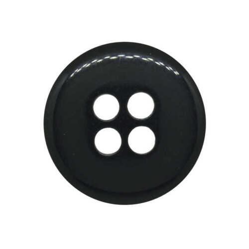 Gris Carbón Zapatillas botón 4 Agujero De Plástico Italiano 25.5mm