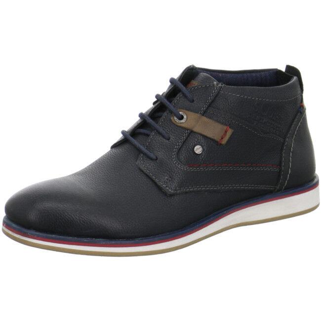 s.Oliver Herren Stiefeletten/ Boots Leder Blau Gr.45 (p15)