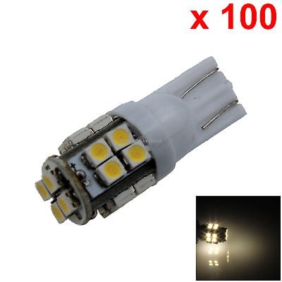 10x Warm white RV T10 W5W Malibu Landscape Light Wedge Lamp 20 3528 SMD LED A029