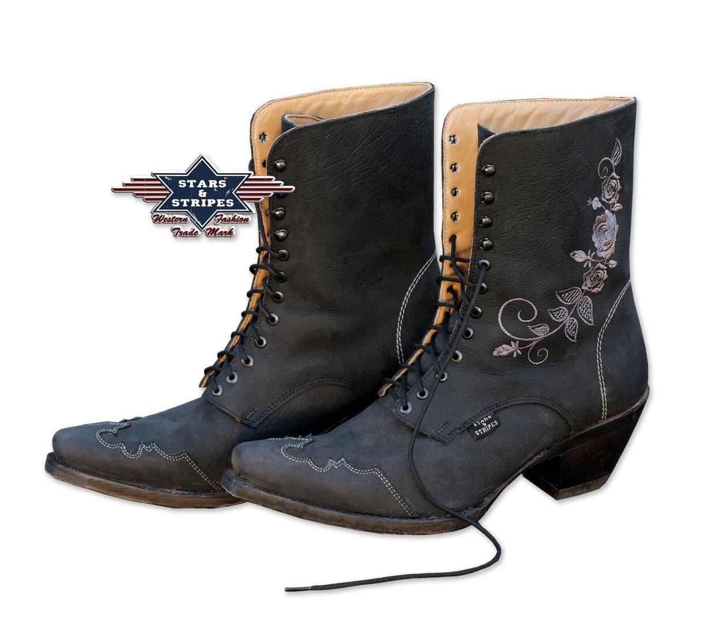 Grandes zapatos con descuento Westernstiefel Damen Cowboystiefel Rosie Echt Leder Boots Handmade Stars&Stripes
