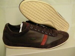 Lacoste-Chaussures-Misano-22-Spm-Cuir-Daim-Marron-Fonce-Taille-9-5-US
