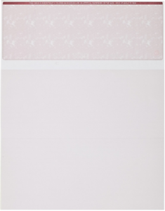 Blank Check Paper Stock Computer Check On Top BURGUNDY MARBLE Count 50