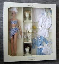 Beautiful Silkstone Spa Getaway Barbie giftset NRFB brown and blonde wig