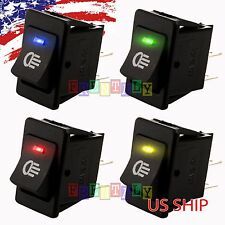 4pcs 12v 35a Universal Car Fog Light Rocker Switch Led Dash Dashboard 4pin Hs