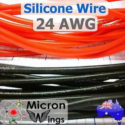 24AWG Silicone Wire Cable for RC LIPO - By The Metre