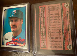 Wade Boggs Extremely Rare Cut Error Card ** One Of A Kind Find*** Won't Last****