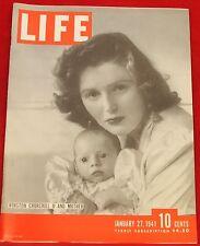 Life Rivista Gennaio 27, 1941 Chrysler Ads, Mrs Churchill Quasi Nuovo Condizione