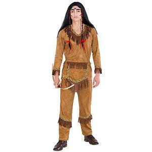 Herrenkostum Indianer Hauptling Wilder Westen Fasching Apache