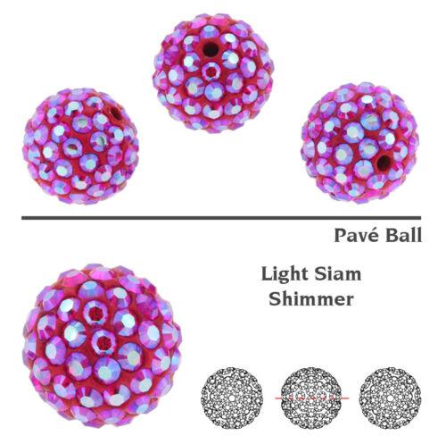 viel Farben /& Größen Original SWAROVSKI 86001 BeCharmed Pavé Ball Perlen