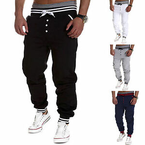 Mens-Casual-Jogger-Dance-Activewear-Baggy-Harem-Pants-Slacks-Trousers-Sweatpants